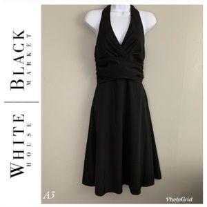 White House Black Market Black Halter Prom Dress 2